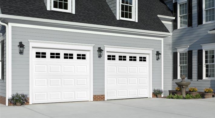 Black Garage Door Grey House White Trim
