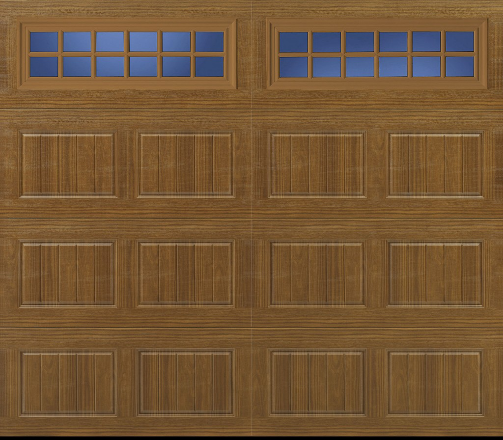 Amarr Oak Summit 1000 Walnut Garage Door