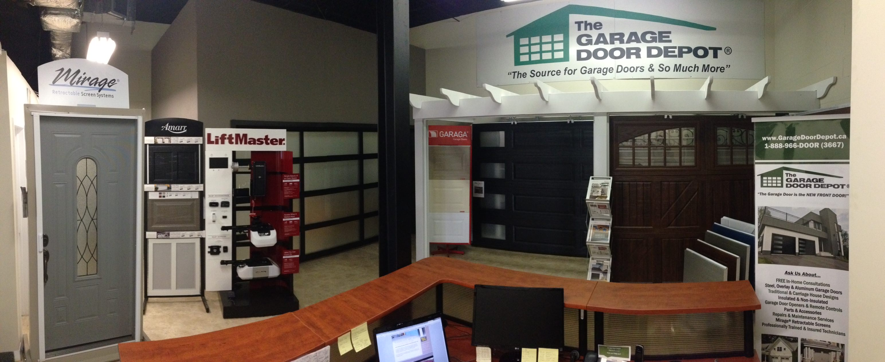 About Us | The Garage Door Depot - Scarborough on signs and more, kitchen cabinets and more, painting and more, air conditioning and more, blinds and more,